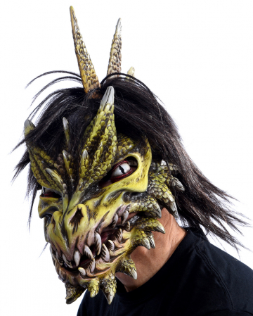 Spike Dragon Mask With Movable Jaw