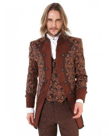 Steampunk Aristocrat Men Coat Brown