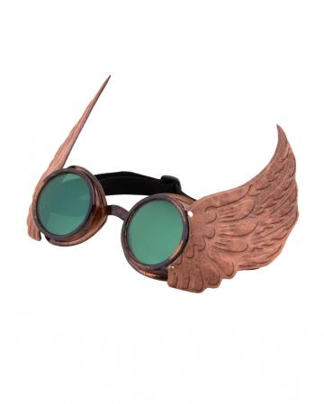 Steampunk goggles Cap Gold