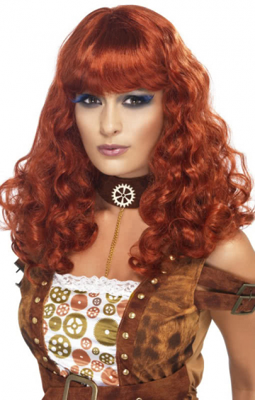 Steampunk wig copper