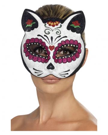 Sugar Skull Cat Mask