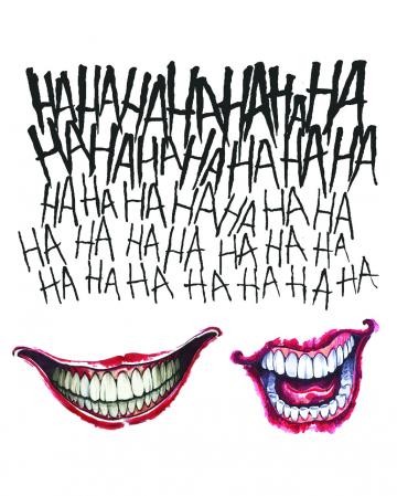 Suicide Squad Joker Tattoo Set 3-tlg.