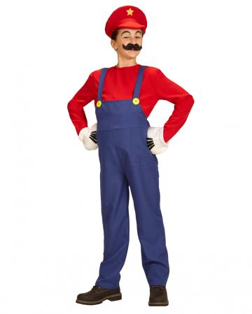 Super Plumber Child Costume