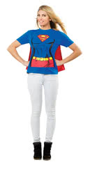 Supergirl T-Shirt mit Cape XL
