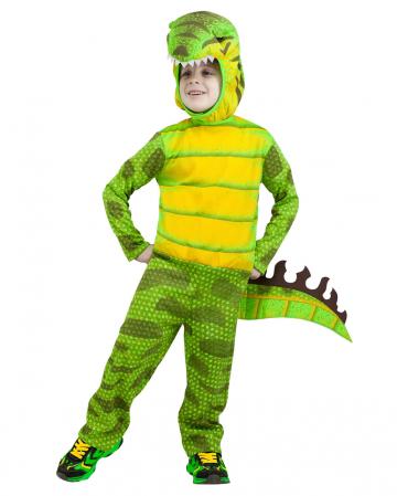 T-Rex Dinosaurier Kinderkostüm grün