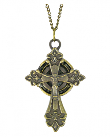 Pocket Watch Necklace Cross