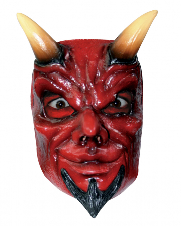 Devil Half Mask With Horns