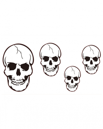 4 Skulls Cut Outs Wall Decoration