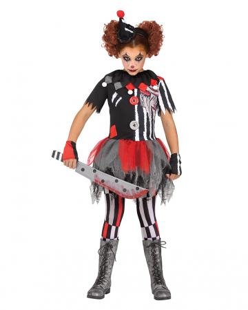 Unheimlicher Zirkusclown Kinder Kostüm