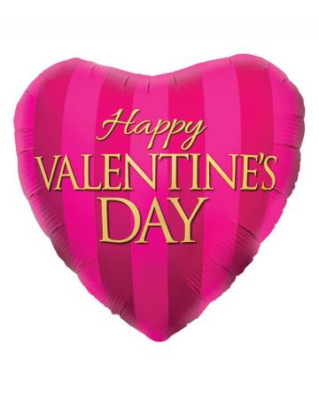 Folienballon Happy Valentines Day Pink