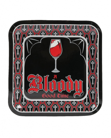 Vampire Party Paper Plate 8 Pc.