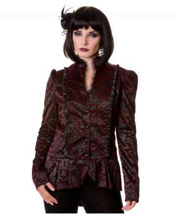Gothic Jacke schwarz rot