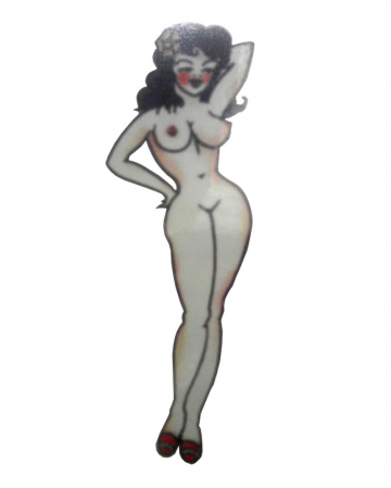 Stick On Tattoo Pirate Pin Up Girl