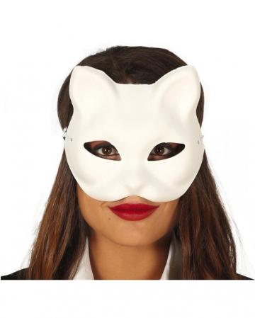 Weiße Katzenmaske