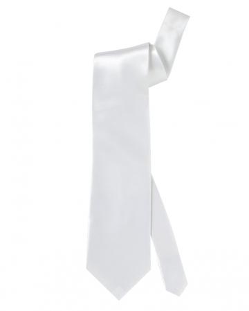 White Tie Made Of Satin