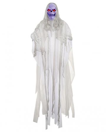 Weißer Fetzengeist mit Leuchteffekt 180 cm