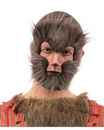 Werewolf Half Mask Mottled