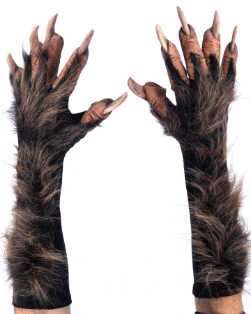 Werewolf Gloves With Synthetic Fur Deluxe