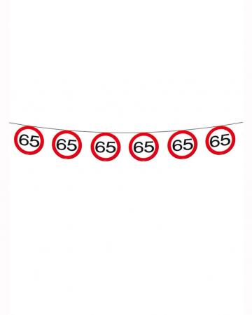Wimpelkette Verkehrsschild 65