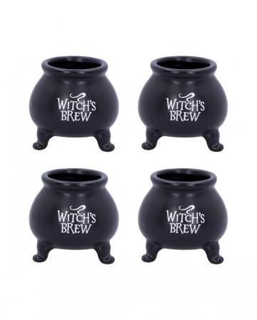 Witch's Brew Kessel Shotglas 4 Stück