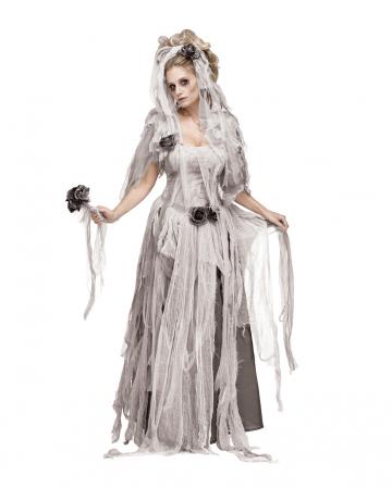 TIGHTS Womens Graveyard Bride COSTUME WIG BOUQUET Halloween Fancy Dress