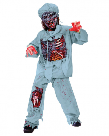Zombie Doctor Deluxe Kids Costume