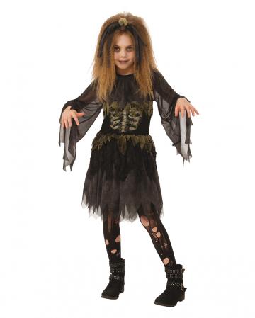 Zombie Skelett Kostüm für Mädchen