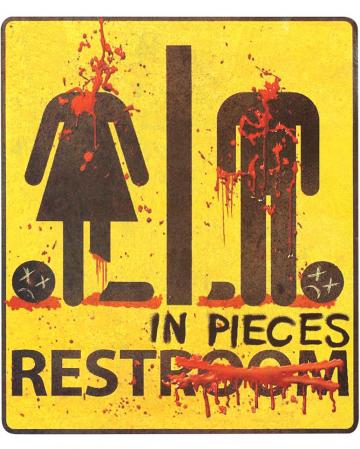 Zombie Restroom Sticker Rest In Pieces 29x32cm