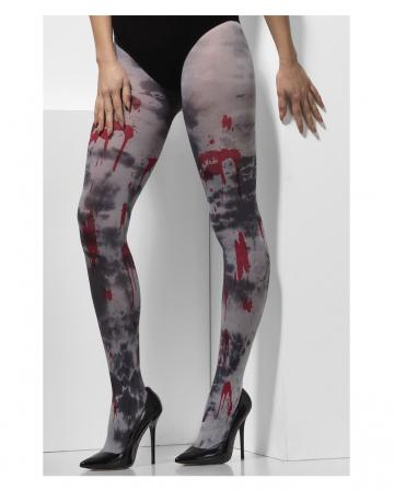 Zombie Strumpfhose mit Blut