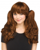 Cosplay Wig With Separate Plaits Rust Red
