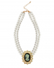 Baroque pearl necklace with amulet