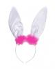 Bunny Ohren mit pinkem Flaum