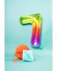 Foil Balloon Number 7 Rainbow