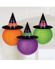 Halloween Lanterns With Witch Hat 3 Pc.