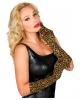 Ellbogenlange Leoparden Handschuhe
