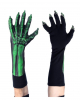 Green Skeleton Gloves UV Active