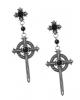 KILLSTAR Rosary Ohrringe mit Kreuz