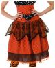 Vintage Polka Dot Hexenkostüm mit Spitze Orange