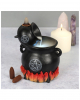 Cauldron Duo Backflow Incense Cone Holder With Light