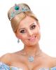 Silberne Prinzessin Tiara mit Türkisen Steinchen