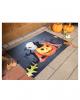 Halloween Doormat With Pumpkin & Cat Motif