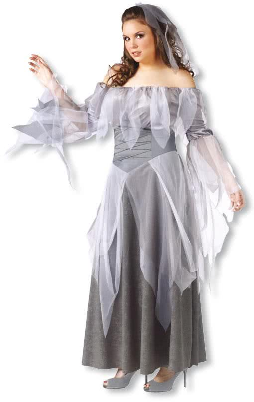 ghost woman costume xl ghost woman xxl costumes vampire. Black Bedroom Furniture Sets. Home Design Ideas