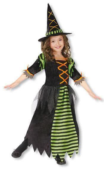 Kleine Halloween Hexe Kinderkostüm L