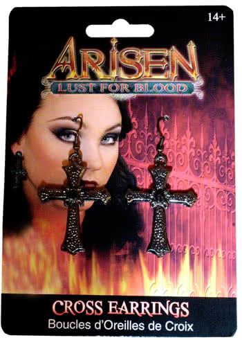 Cross Earrings Arisen Vampire Jewelry Fancy Dress Halloween Costume Accessory