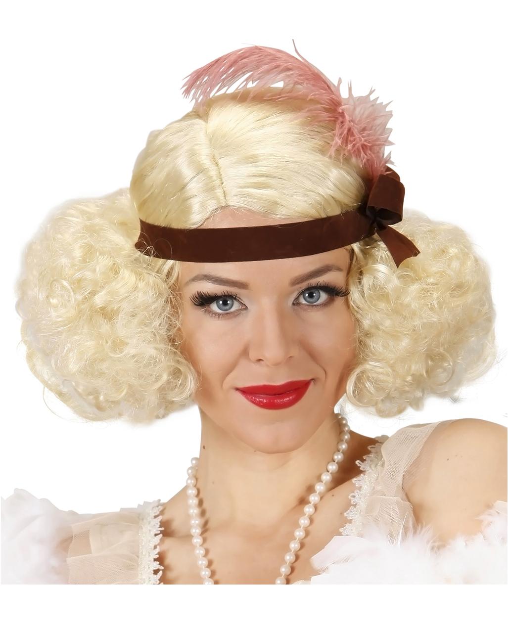 wähle echt Schnäppchen für Mode gut aussehen Schuhe verkaufen 20er Jahre Perücke mit Stirnband