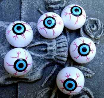 Kunststoff Augapfel Pongball Augen Als Halloween Deko Horror Shop Com
