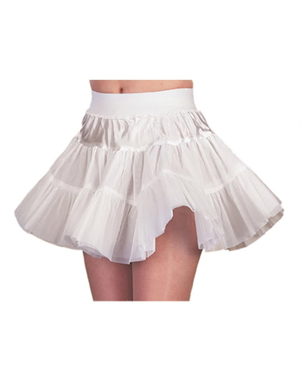 18s Petticoat weiß steif