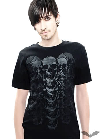 totenkopf t shirt gr xl horror. Black Bedroom Furniture Sets. Home Design Ideas