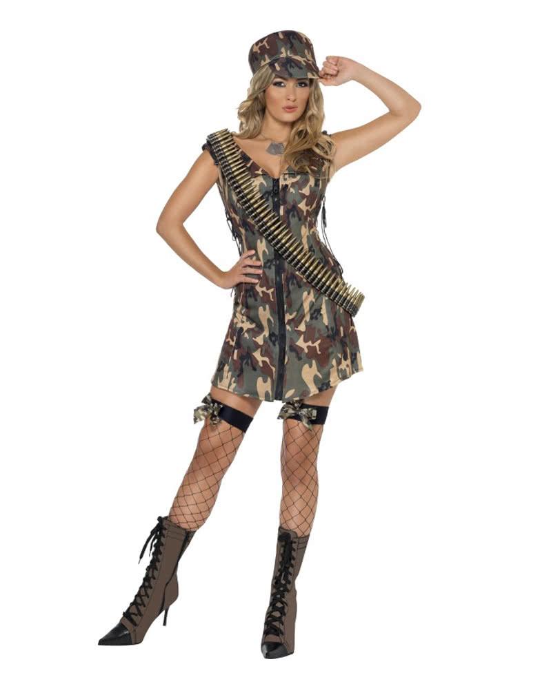 army girl kost m kurzes camouflage kleid horror. Black Bedroom Furniture Sets. Home Design Ideas