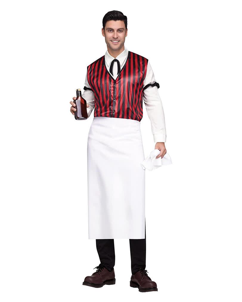 saloon bartender men 39 s costume waiter cladding horror. Black Bedroom Furniture Sets. Home Design Ideas